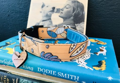 Scrufts San Jose Dog Collar with Blue Velvet Lining