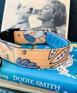 Scrufts San Jose Dog Collar with Blue Velvet Lining
