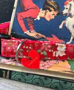 Scrufts Sakura Red Floral Dog Collar