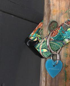 Scrufts Club Tropicana Green Jungle Print Dog Collar