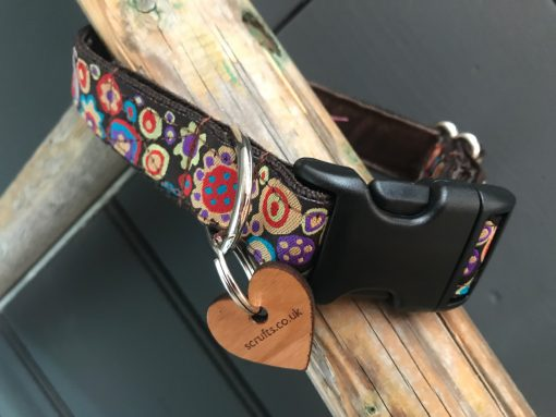 Scrufts Mila Dog Collar with Chocolate Velvet Lining