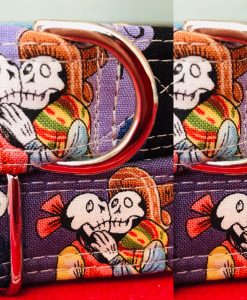 Scrufts El Muerto Day of the Dead Dog Collar with Velvet Lining