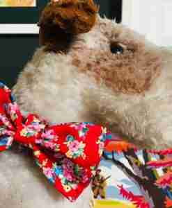 Scrufts Rose Floral Dog Bow Tie
