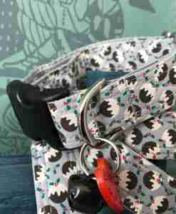 Scrufts Figgy Pudding Christmas Dog Collar with Velvet Lining
