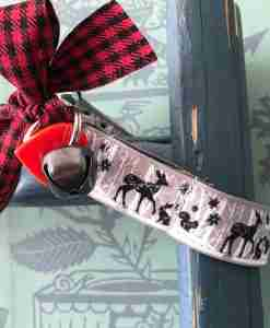 Scrufts Bambi Christmas Dog Collar with Velvet Lining