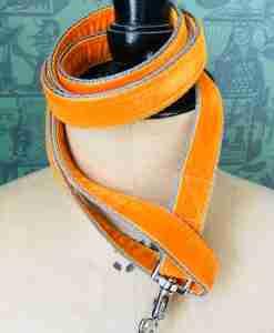 Scrufts' Burwash Orange Velvet Lead