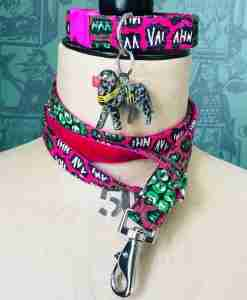 Scrufts Kenya African Wax print Dog Collar and Lead
