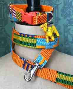 Scrufts Nairobi African Wax print Dog Collar and Lead
