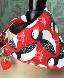 Scrufts Puffin Rock Dog Collar and Matching Slip-on Bandana